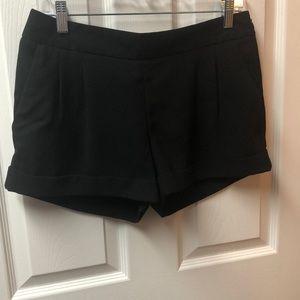 Black Polyester dress Express shorts